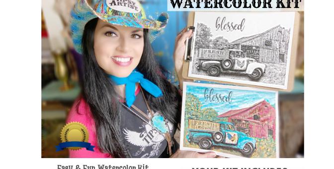 Tipsy Artist Beginners Watercolor Kit