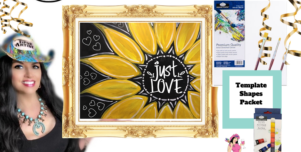 Just Love Sunflower ~ Painting Party Pack