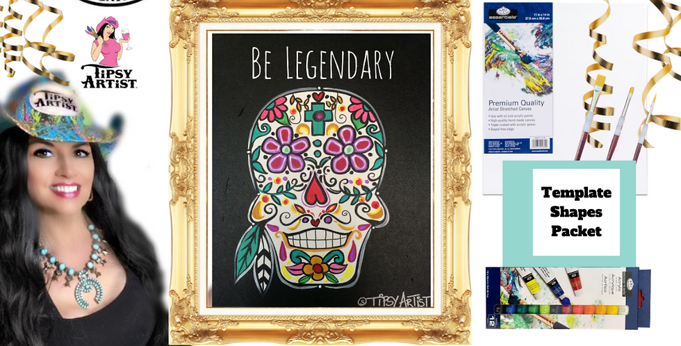 Sugar Skull ~ Painting Party Pack