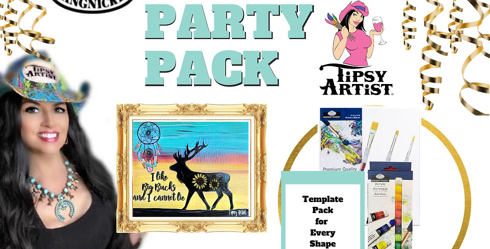 I Like Big Bucks ~ Painting Party Pack