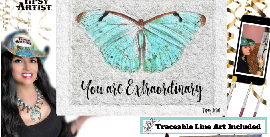 You Are Extraordinary Butterfly ~ Painting Kit