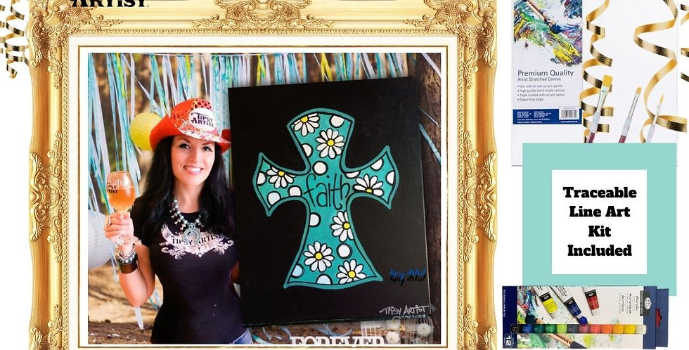Daisy Faith Cross ~ Painting Kit