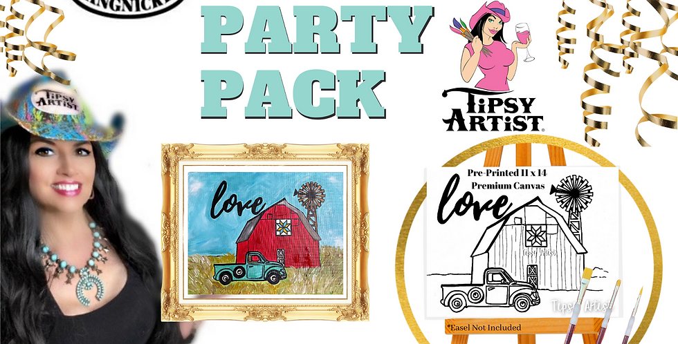 Love on the Farm DIY Canvas Painting Party Pack