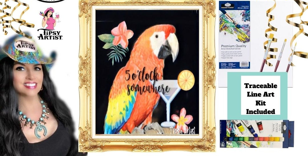 5 O'Clock Somewhere Parrot ~ Painting Kit
