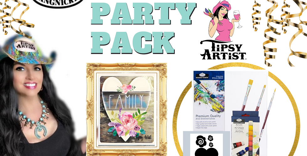 Family Heart Painting Party Pack