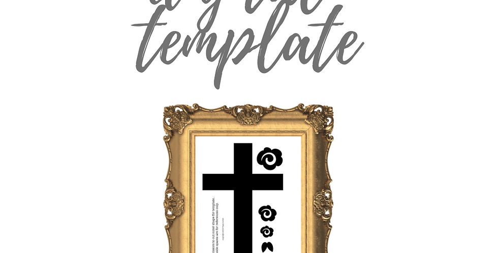 Old Rugged Rose Cross Template Pack