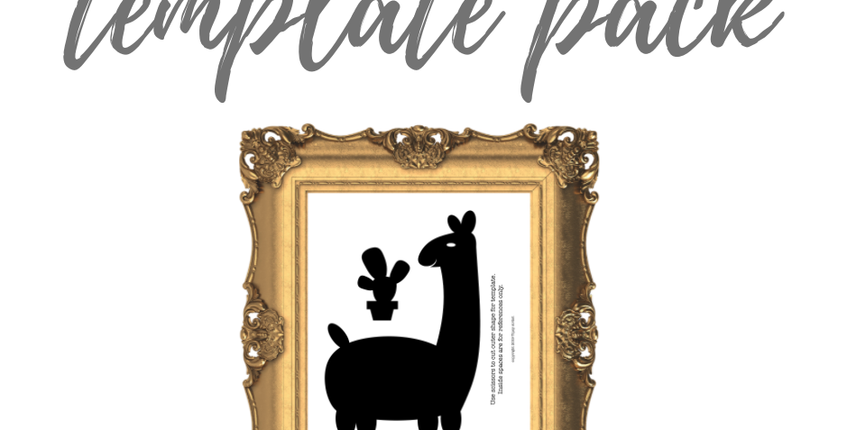 Llama with Cactus Template Pack with Online Video