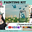 Thumbnail: Butterflies Mason Jar & Daisies ~ Painting Kit