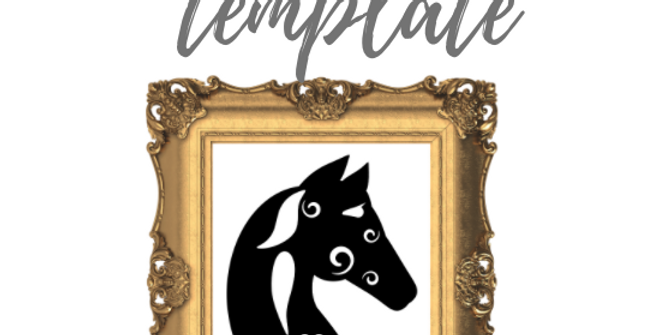 Warrior Horse Template Pack