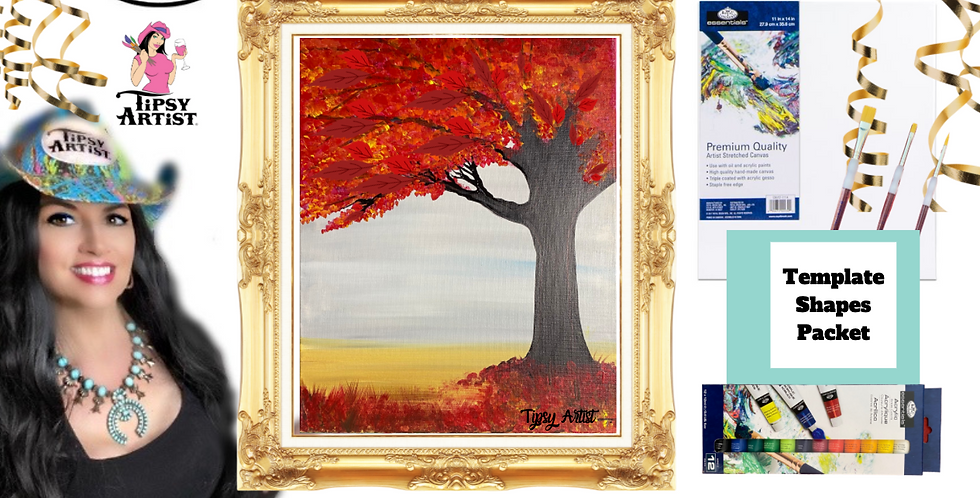 Red Tree ~ Painting Party Pack