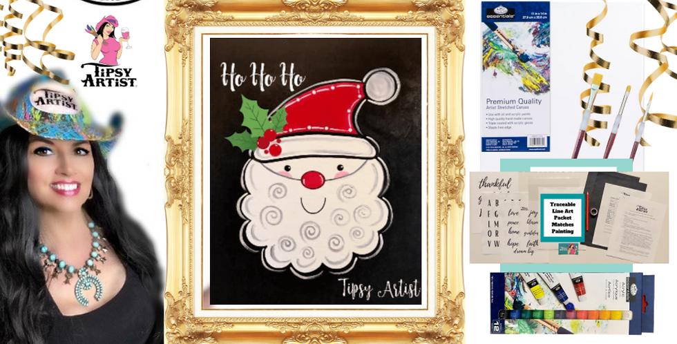 Ho Ho Ho Santa Painting Kit ~ Painting Party Gift