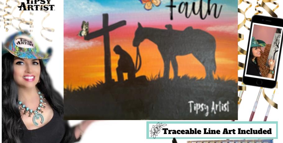Faith Cowboy Kneeling at the Cross~ Painting Kit