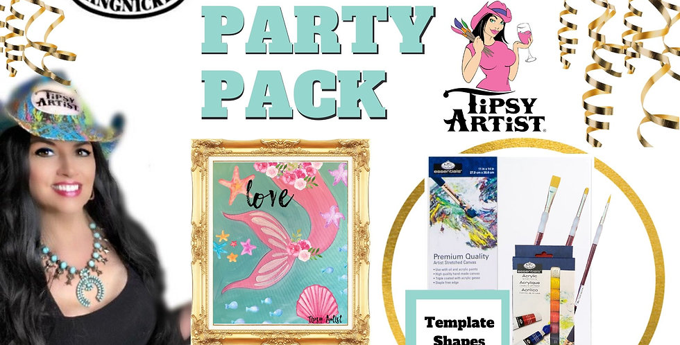 Mermaid Tail ~ Painting Party Pack