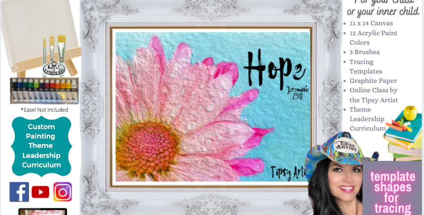 Hope ~ Jeremiah 29:11 Flower ~ Painting Party Pack