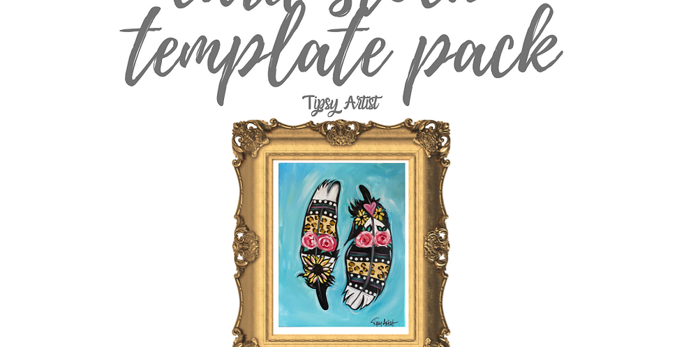 Feathers Template Pack with Online Video