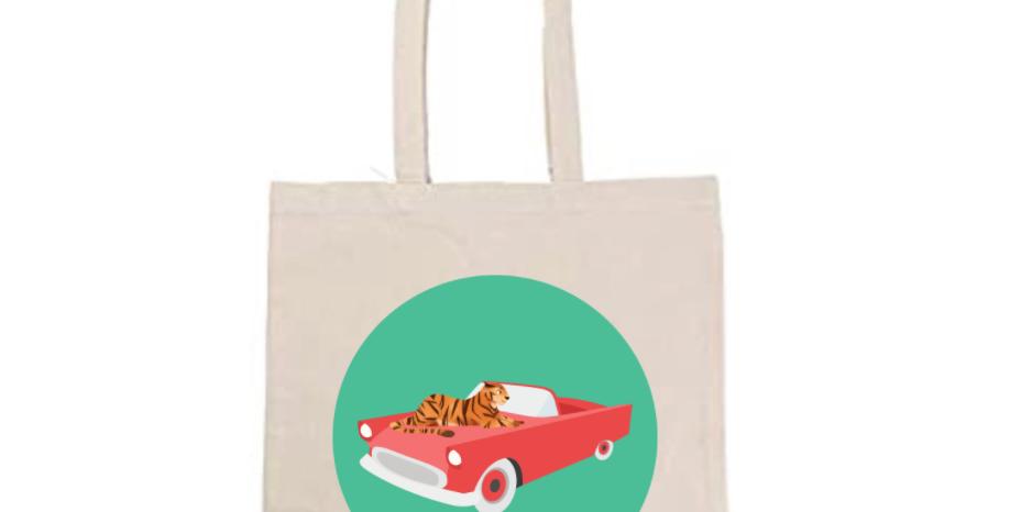 Tiger Vintage Car Tote Bag ~ Painting Kit