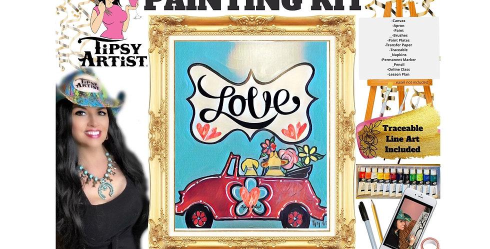 Hippie Bug & Puppy Love ~ Painting Kit