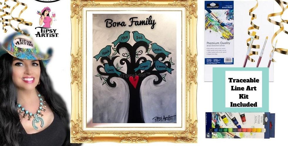 Love my Family Tree ~ Painting  Kit