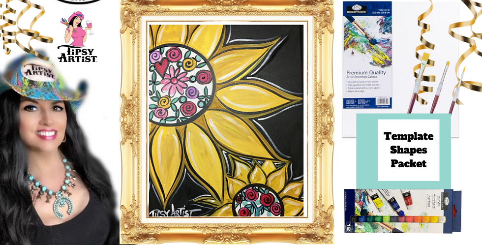 Floral Sunflower ~ Painting Party Pack