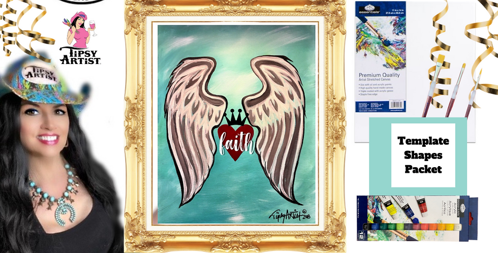 Faith Angel Wings ~ Painting Party Pack