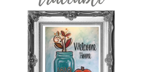 Mason Jar with Chevron Pumpkin Digital Pack