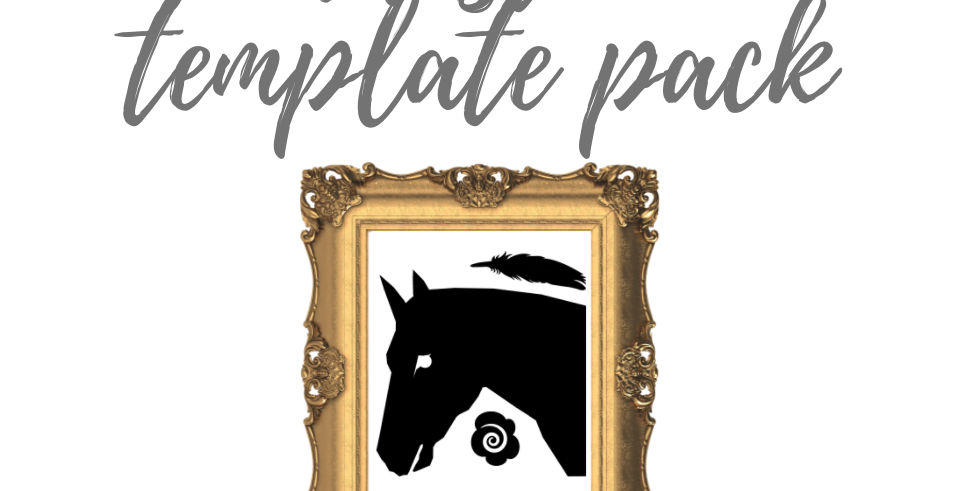 Horse/Feather/Rose Template Pack with Online Video Class