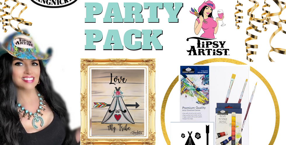Love My Tribe Teepee Painting Party Pack