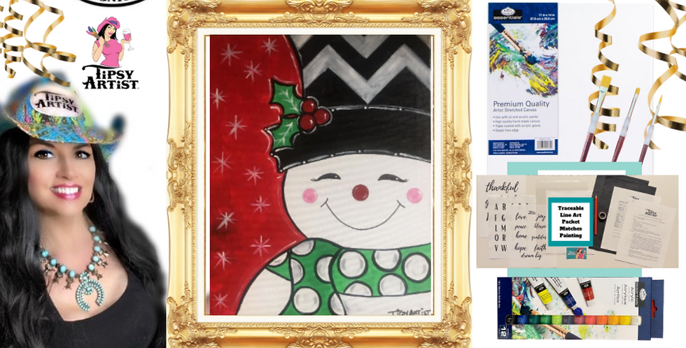 Smiling Snowman Painting Kit ~ Painting Party Gift