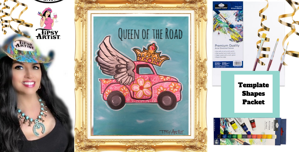 Queen of the Road Winged Pick Up ~ Painting Party Pack