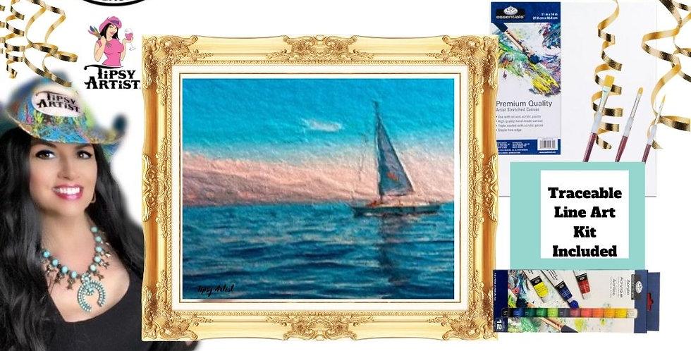Sailing Takes Me Away ~ Painting  Kit