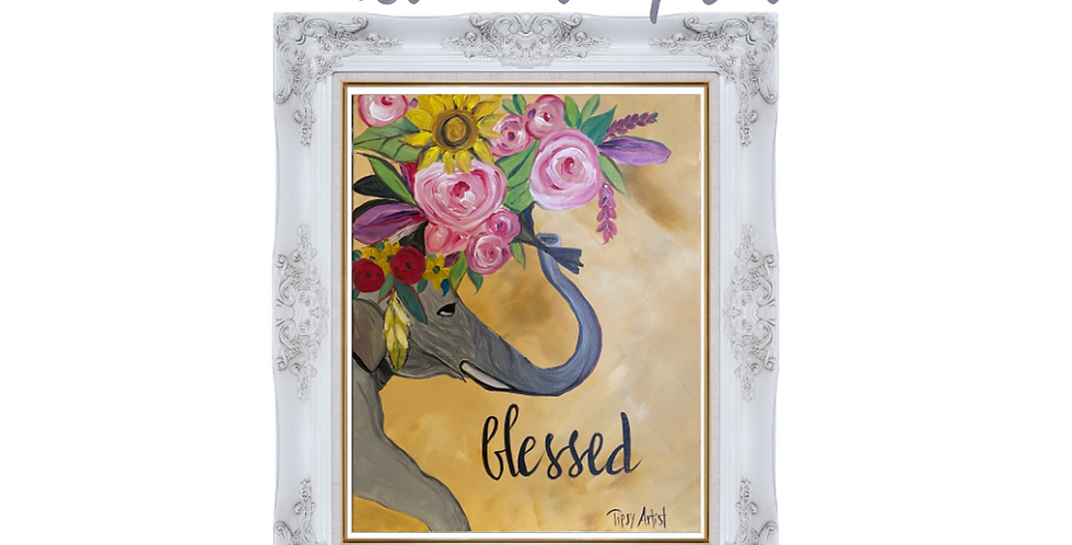 Blessed Elephant Cardstock Tracing Template Pack with Online Video