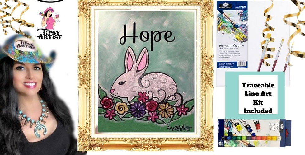 Hope Easter Bunny ~ Painting Kit