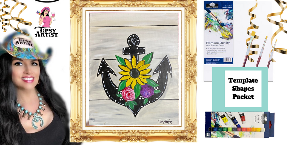 Sunflower Anchor ~ Painting Party Pack