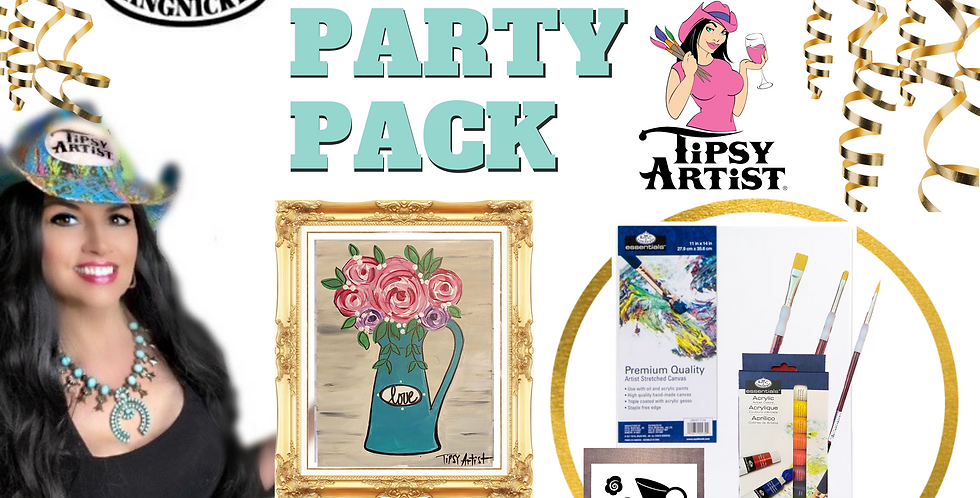 Pitcher with Roses Painting Party Pack
