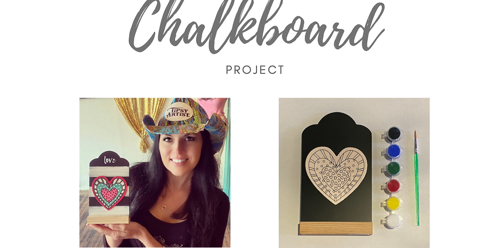 Tipsy Artist Chalkboard & Wood Painting Project