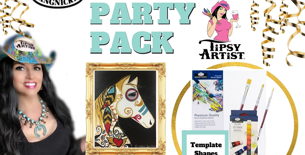 Warrior Horse ~ Painting Party Pack