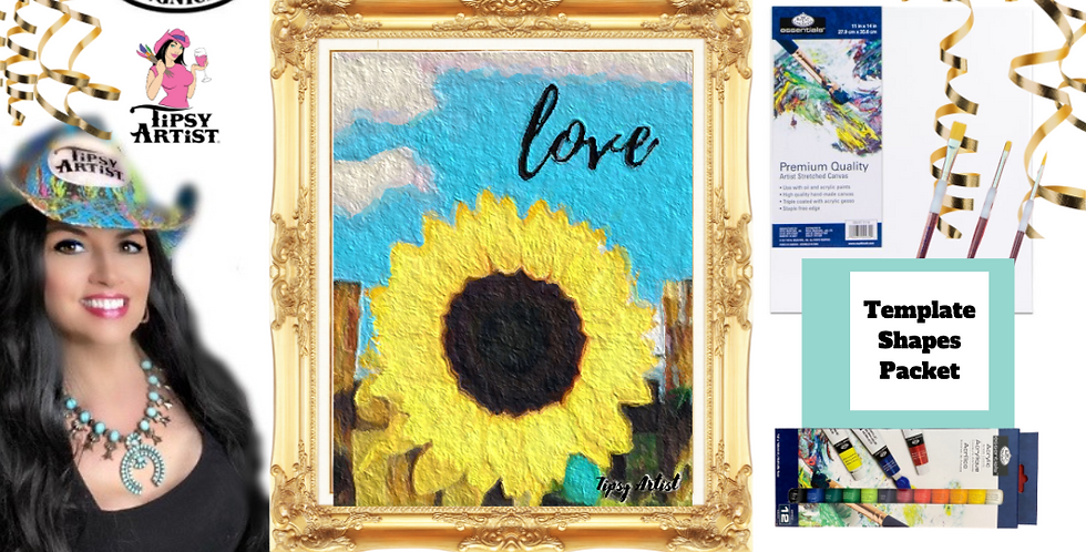 Sunflower Love Fence~ Painting Party Pack