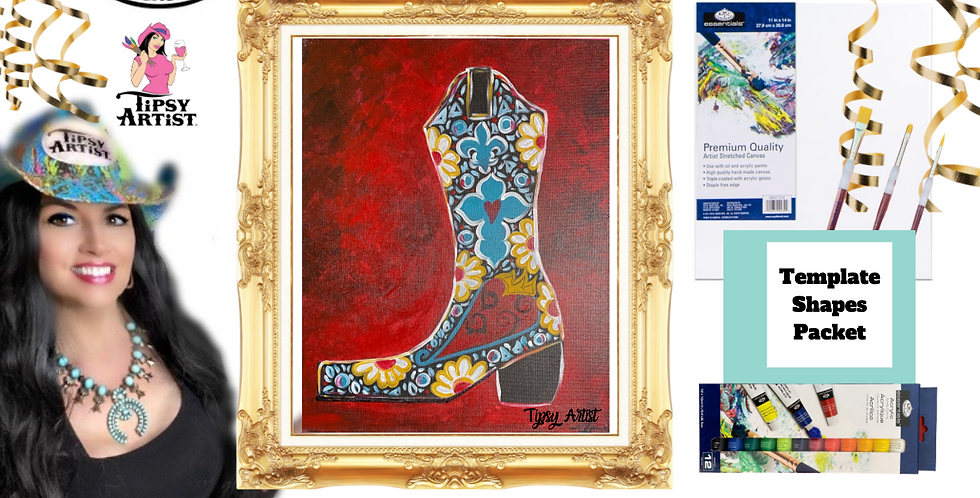 Bedazzled Boot ~ Painting Party Pack