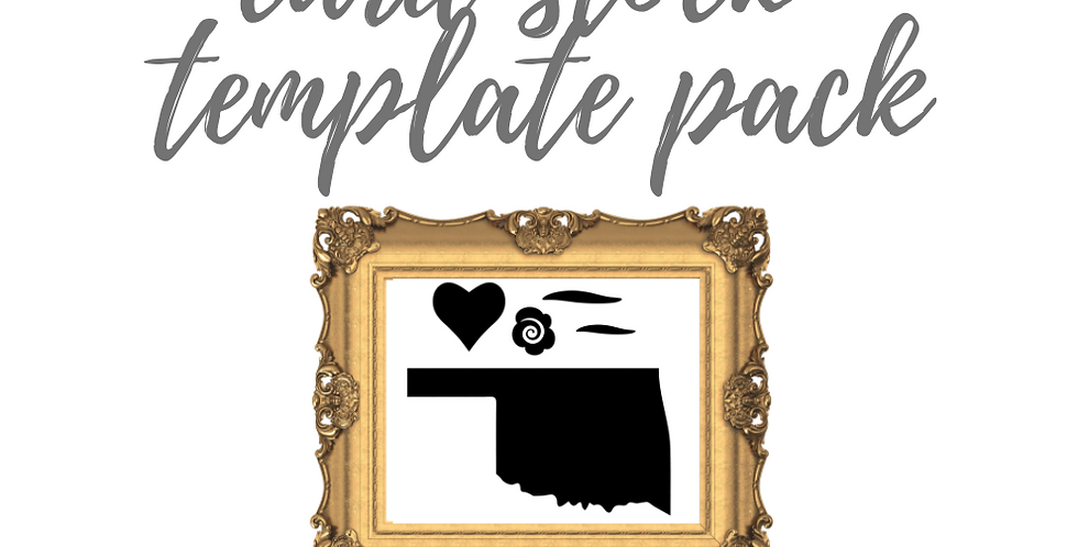 Your Custom State Quilt Template Pack with Online Video Class