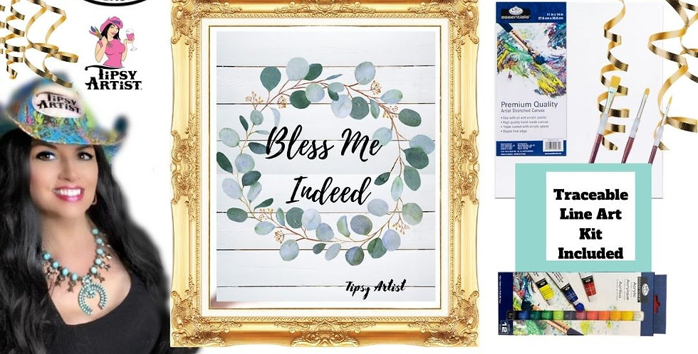 Bless Me Indeed Eucalyptus Wreath Painting Kit