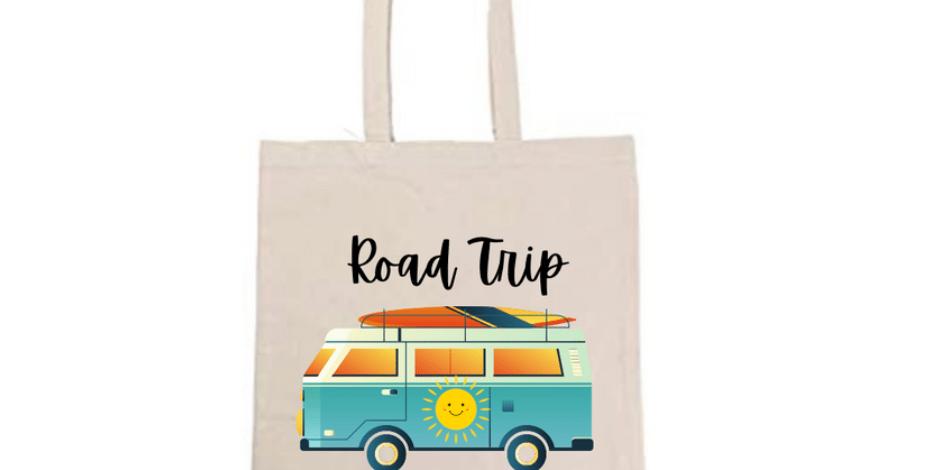 Road Trip Surfer Van Tote Bag ~ Painting Kit