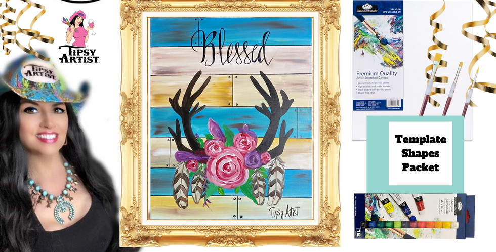 Blessed Antlers ~ Painting Party Pack