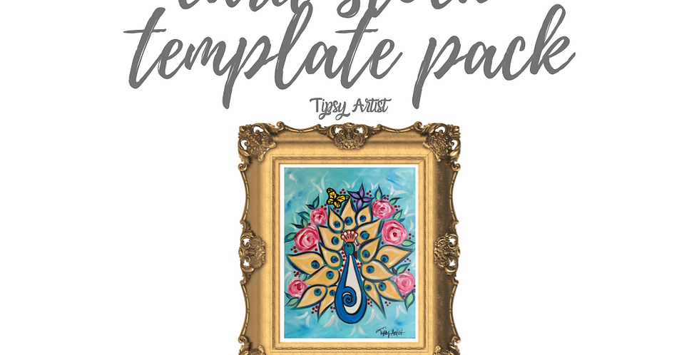 Peacock Template Pack with Online Video