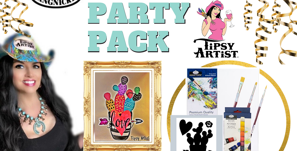 Bright Love Cactus Painting Party Pack