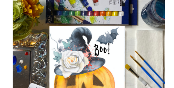 Boo Jackolantern Painting Kit ~ Painting Party Gift Pack