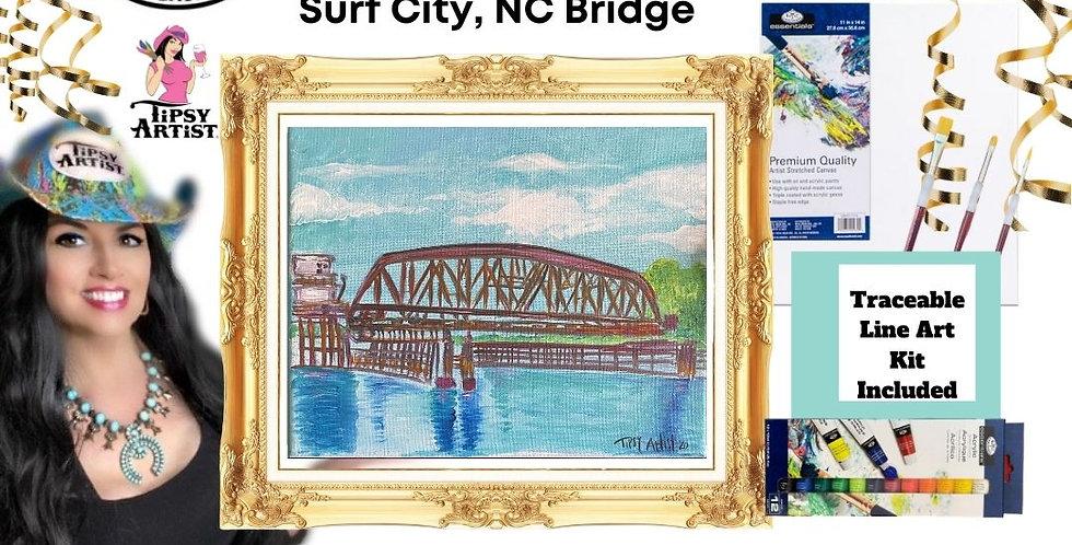 Surf City, NC Bridge ~ Painting Kit