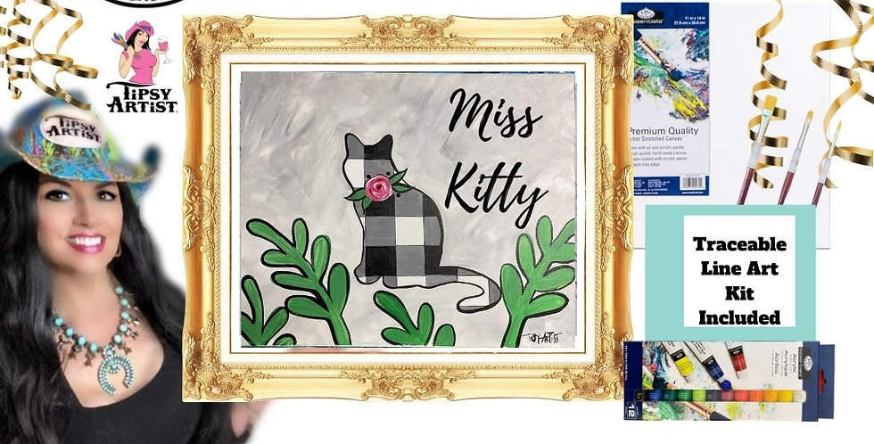 Miss Kitty with Buffalo Check Painting Kit