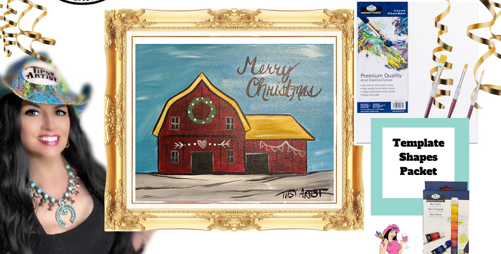 Christmas Barn~ Painting Party Pack