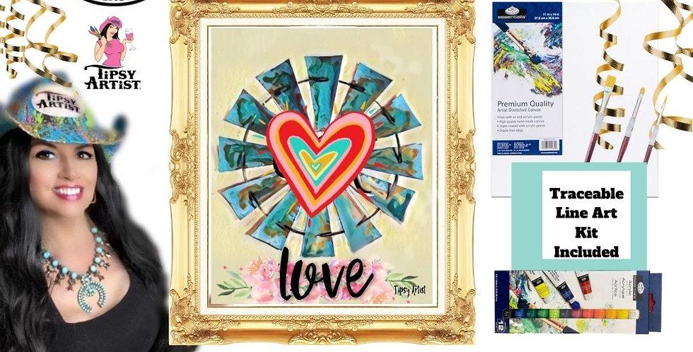 Love Windmill ~ Painting Kit