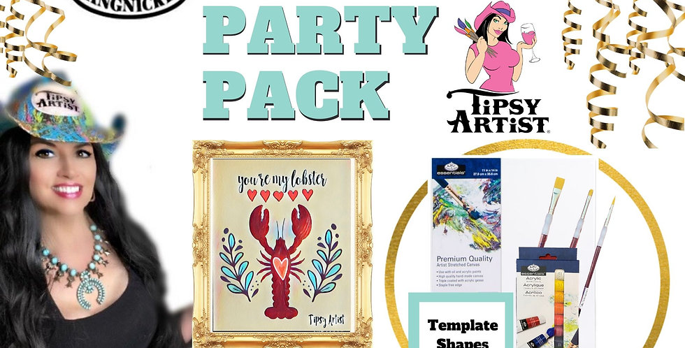 Friends~ You're My Lobster~ Painting Party Pack